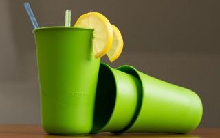 Plastové pohárky z recyklovaného plastu Preserve