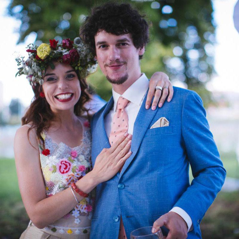 Svatební věnec z dílky Kytky od potoka