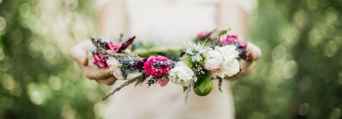 Svatební věnec pro nevěstu od Kytky od potoka